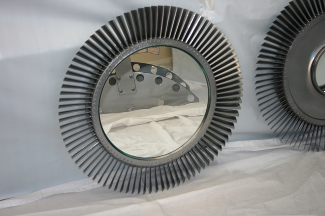 Jet Engine Fan Blades : Raf canberra rolls royce jet engine fan blade chrome