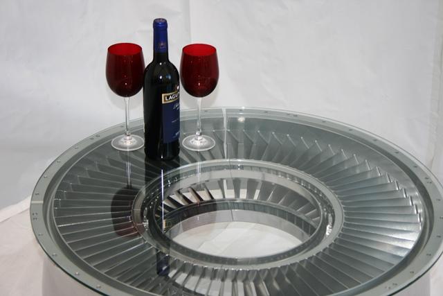 ... Nimrod Jet Engine Fan Blade Coffee Table0 ...