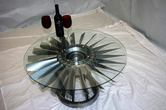 Jet Engine Fan Blades : Rolls royce jet engine fan blade coffee table vintage